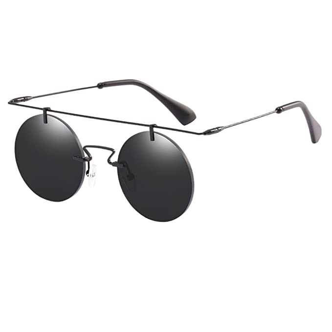 Zhhlaixing Orotezione UV400 Occhiali da Sole con Montatura in Metallo Tondi da Uomo e da Donna Unisex Sunglasses 6Tcewdpm