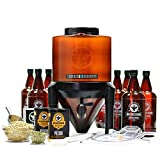 BrewDemon Signature Beer Kit by Demon Brewing Company - NO NEED TO SIPHON Easy To Use All-Malt Craft Beer Starter Kit With Reusable Conical Fermenter, Equipment and Ingredients - Make Wicked-Good Beer
