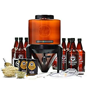 BrewDemon Signature Beer Kit by Demon Brewing Company – NO NEED TO SIPHON Easy To Use All-Malt Craft Beer Starter Kit With Reusable Conical Fermenter, Equipment and Ingredients – Make Wicked-Good Beer