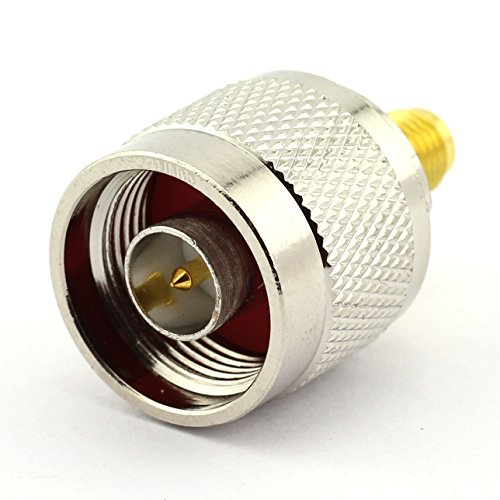 DGZZI 2-Pack N Male to SMA Female RF Coaxial Adapter N to SMA Coax Jack Connector (Sma Female Jack To Male Sma)
