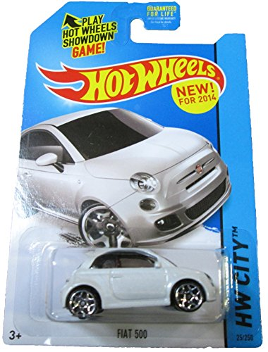 Hot Wheels 2014 HW City Fiat 500 25/250, White