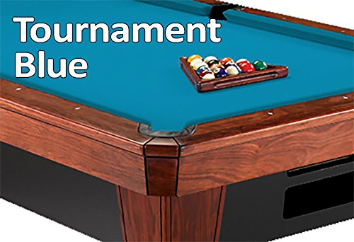 Worsted Standard Green Pool Table - 8' Oversized Simonis 860 Tournament Blue Billiard Pool Table Cloth Felt