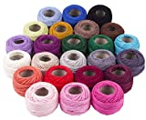 Crochet Thread 24 Colors for Beginners Embroidery