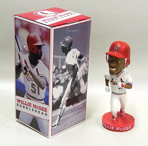 WILLIE MCGEE SGA ST LOUIS CARDINALS BOBBLEHEAD BRAND NEW NIB - Baseball Art Ticket Wall