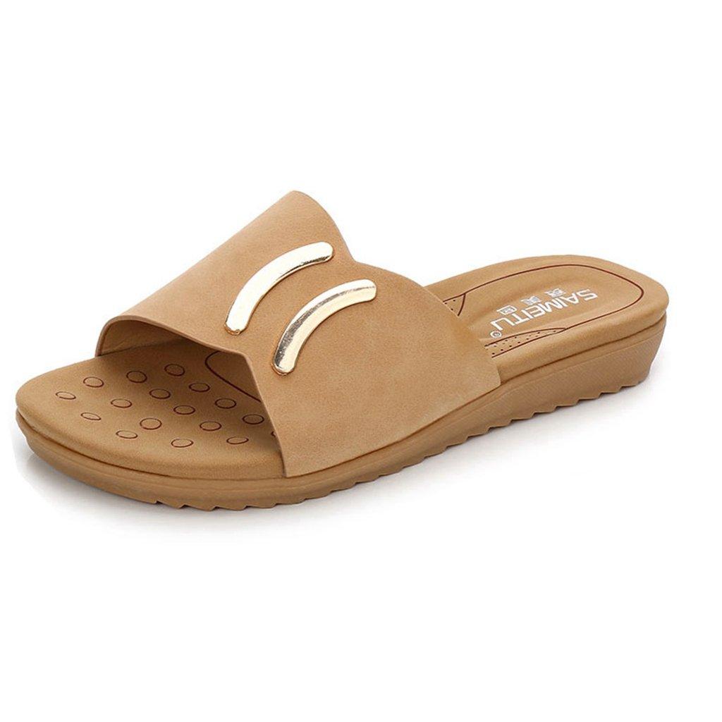 GIY Womens Slip-on Wedge Slide Sandals Summer Comfort Open Toe Platform Sandal Slipper