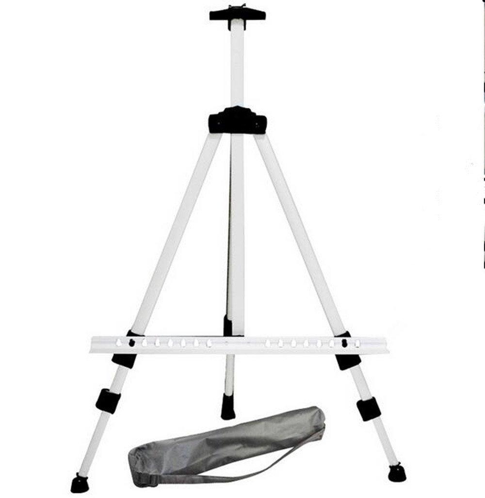 Zusammenklappbarer Teleskop Aluminium Bereich Staffelei Kunst Malerei Ständer silber Stativ mit Tragetasche Univegrow