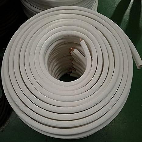 Refrigerant Seamless Pipe Tube for HVAC 1//2 Black Insulation Taped Together 35/' Long HVAC Premium 35 Long Refrigerant 1//4-3//8 Insulated Copper Coil Line Set 1//2 Black Insulation Taped Together