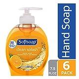 Softsoap Liquid Hand Soap, Clean Splash - 7.5 fluid ounce (Pack of 6)