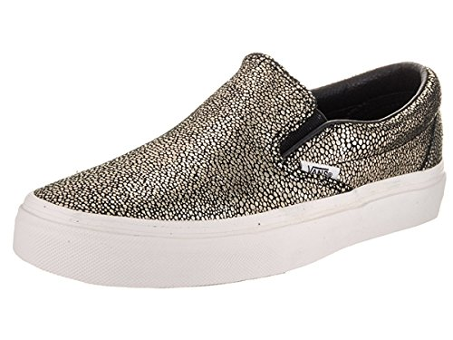 Vans Womens Classic Slip-On Gold Dots Sneaker Gold/Blanc De Blanc Size 4.5