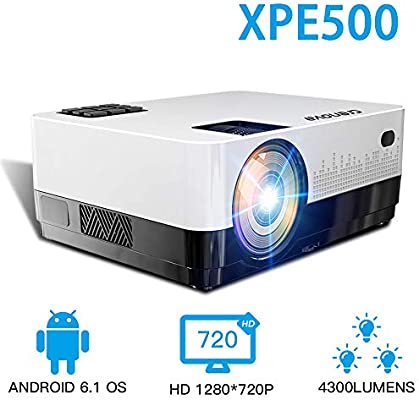 SMEI Proyector Led HD 1280 * 728p Android 6,1 Os 4300 ...