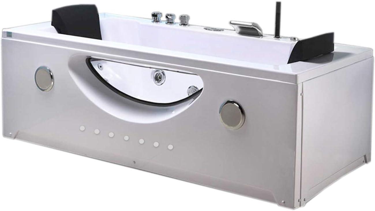 Bañera hidromasaje Model Harmony 180 x 90 cm Bañera de esquina spa hidromasaje Piscina - Terapia luz de colores Para 2 nueva