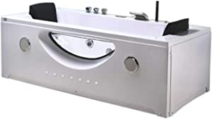 """Whirlpool massage hydrotherapy bathtub 70"""" hot tub 2 two person HARMONY double pump with 24 jets"""