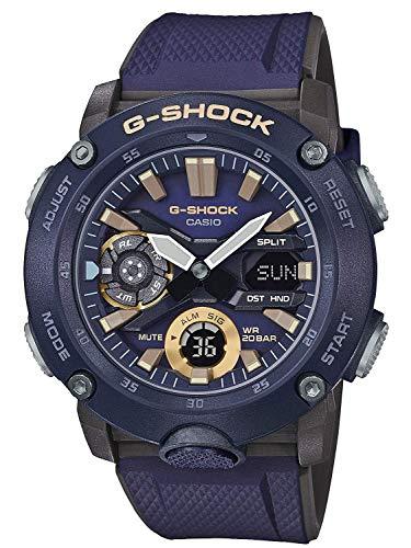 - Men's Casio G-Shock Carbon Core Guard Navy Resin Band Watch GA2000-2A