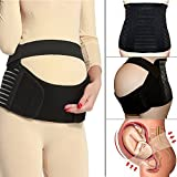 CFR Soft Loving Comfort Maternity Belt Band Back Support, Abdomen Band, Back Brace, Size M, Black