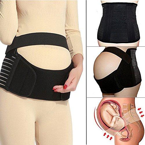 ort Maternity Belt Band Back Support, Abdomen Band, Back Brace, Size L, Black ()