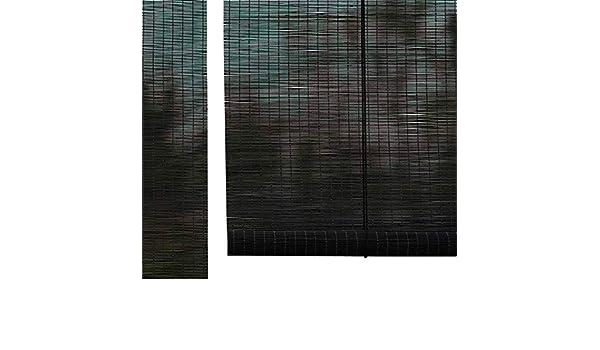 Cortina enrollable interior/exterior, filtrado ligero al 60 %, enrollable para cortinas de porche, balcón, pérgola, lugar para coche, techo, o instalación en pared: Amazon.es: Hogar