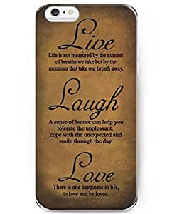 UKASE Quotes Series Hard Plastic Back Case Cover Compatible with iPhone 6 Plus (5.5 inch) - Live Laugh Love by mcsharks