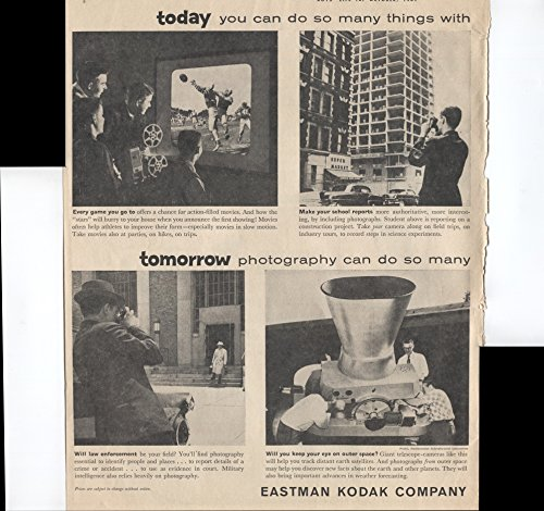Eastman Kodak Brownie - Eastman Kodak Company Photography Is The Fun With A Future! Brownie Starflash Camera For Good Shots Night Or Day Brownie Starmeter Camera Kodak Automatic 8 Movie Camera Film 2 Page 1961 Vintage Antique Advertisement
