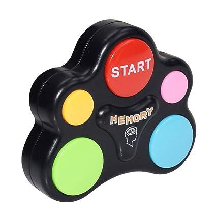 A Luccase Kreativit/äts P/ädagogisches Ged/ächtnisspiel mit Lichtern T/önen Toy Quiz Game Bunte ABS Kunststoff Memory Lernspielzeug f/ür Kleinkinder