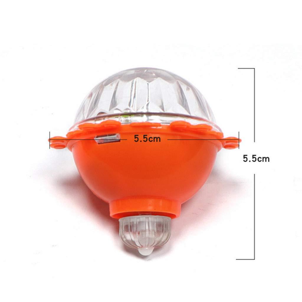 ECMQS 10ps Bunte Kunststoff Blitz Licht Gyro Reibung Magic LED Licht Kreisel F/ür Kinder Geburtstag Festival Geschenke Zuf/ällige Farbe