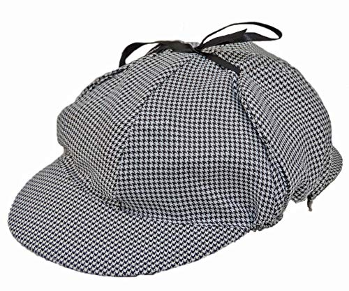 Jacobson Hat Company Men's Sherlock Holmes Cotton Cap, Black/White, Adult (Sherlock Holmes Consulting Detective Board Game Review)