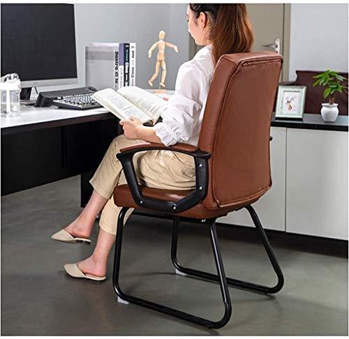 DBL Datorstol, hem ergonomisk kontorsstol, bekväm stillasittande chef stol, spelstol ryggstöd lärande skrivstol kontorsstol skrivbordsstolar (storlek: Brun pu-läder)