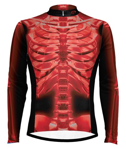 Primal Wear Red X-Ray Skeleton Cycling Jersey 4XL Long Sleeve -