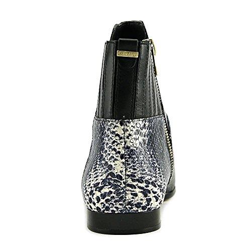 Calvin Klein Donna Eunice Stivaletto Alla Caviglia Nero / Bianco / Nero