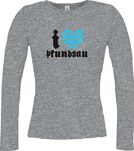 Krokodil - Camiseta - Casual - Cuello redondo - Manga Larga - Mujer Deporte Gris