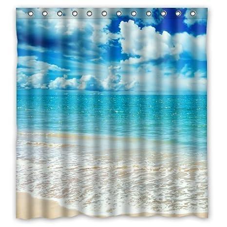 66quotw X 72quoth Beautiful Ocean Sea Shower Curtain