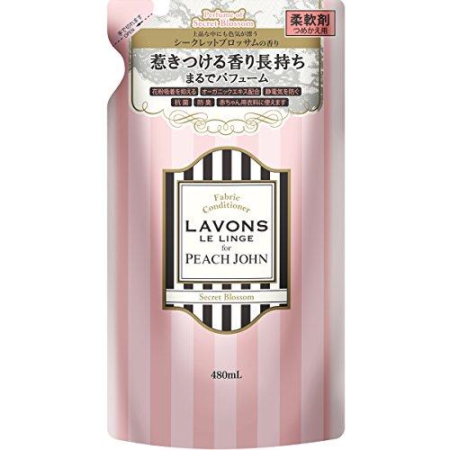 라본 (Lavons) 섬유유연제 for PEACH JOHN 시크릿 블로섬(Blossom) 의 향기 유연제 리필용 480ml