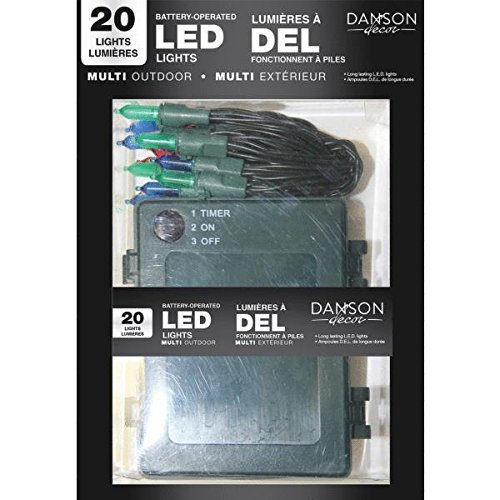 20 Count LED Battery Operated Light Set by ENDURA RIGHT LIGHTING LLC