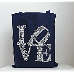 Valentine Tote Love Never Fails Canvas Tote 1 Corinthians 13 Wedding Tote Bridesmaids Gift Welcome Bag Love is Patient Love is Kind Philadelphia Love