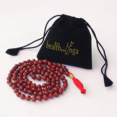 HealthAndYoga(TM) Mala Beads - Rose Wood