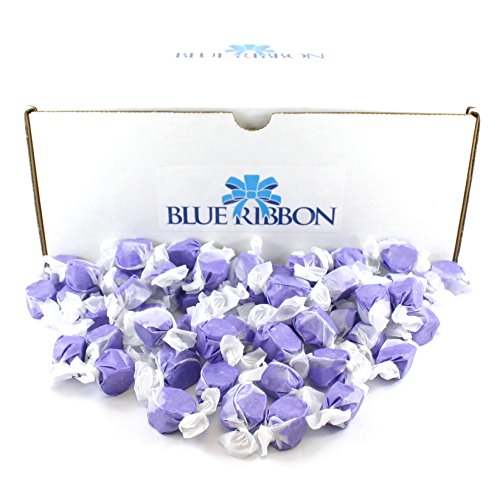 UPC 640746476198, Sweet's Huckleberry Salt Water Taffy, Individually Wrapped, in Bulk by Blue Ribbon, 6 Lbs