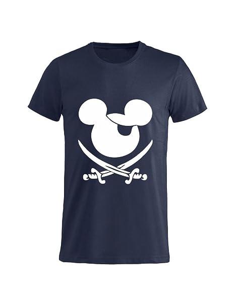 Tuttoinunclick t shirt uomo donna bambino pirata topolino gr95