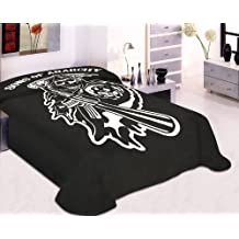 Sons of Anarchy Reaper Blanket- SOA Merchandise Is Perfect for Home Decor, Gifts, Accessories, Memorabilia, Collectables-this Is a Soft, Plush, Thick, Queen/full Size Mink Blanket-this Is NOT a Cheaply Made Fleece Throw-life Time Guarantee