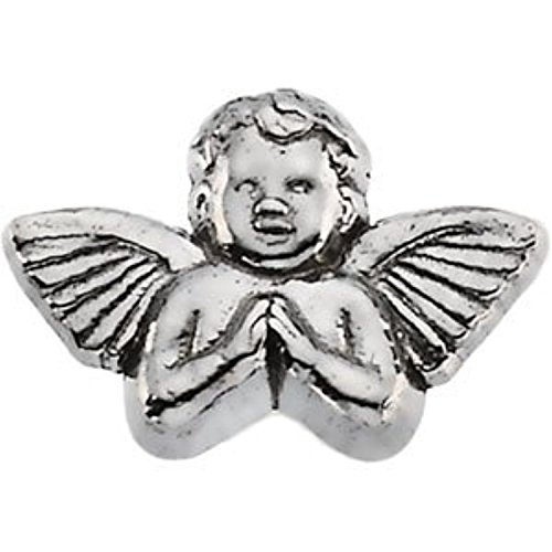 14K White Gold Praying Angel Lapel Pin