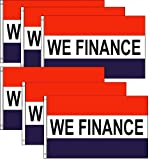 Pack of 6, We Finance Flags 3x5ft Poly