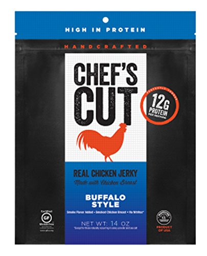 Chef's Cut Real Chicken Jerky Buffalo Style Made with Chicken Breast, 14 Ounce