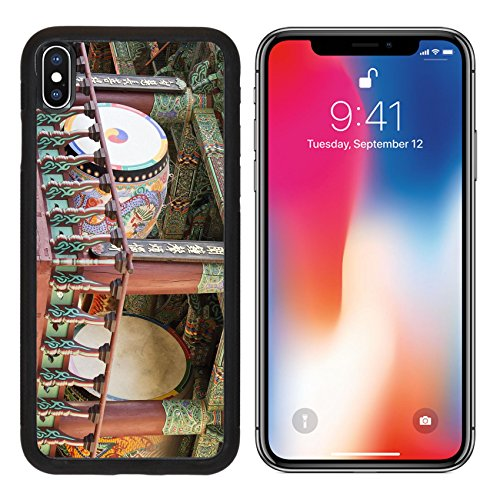 MSD Premium Apple iPhone X Aluminum Backplate Bumper Snap Case IMAGE ID: 13511443 Two of the huge drums at the Bongeunsa Buddhist Temple in Seoul South Korea The drums are kept in a buildi Seoul Korea Temple