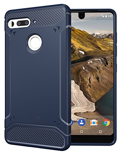 Price comparison product image Essential Phone PH-1 Case, TUDIA Carbon Fiber Design Lightweight [TAMM] TPU Bumper Shock Absorption Cover for Essential Phone PH-1 (Navy Blue)