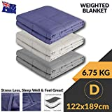 AhaTech Gravity Blanket Weighted Blankets for Adults Kids (122x189CM | 6.75KG, Charcoal)