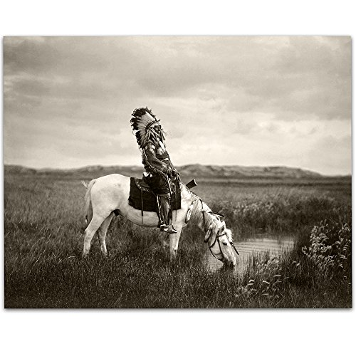 Lone Star Art Oglala Native American Indian - 11x14 Unframed Art Print - Great Home Decor