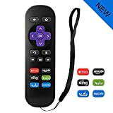 LOUTOC Standard Dome IR Remote with 6 Channel Shortcut Buttons for Black Roku 1/2/3/4(HD, LT, XS, XD)-NOT Support Roku Stick or Roku TV