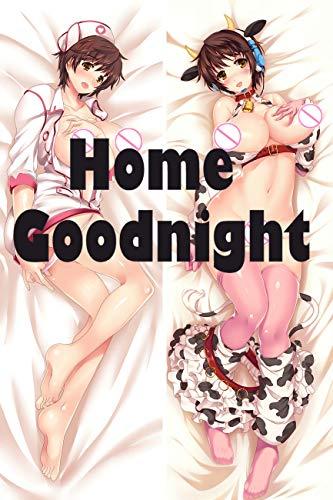 Home Goodnight Hot and Cute Nurse Peach Skin 160 x 50cm(62.9in x 19.6in) -
