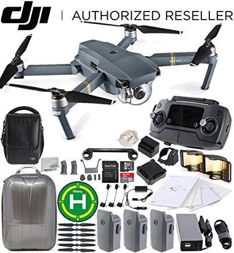 Cheap DJI Mavic Pro Fly More Combo Collapsible Quadcopter Drone Ultimate Bundle