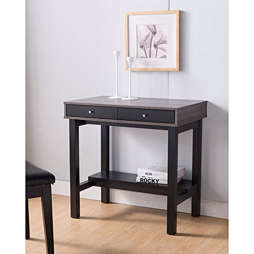 Benzara BM148829 Compact Writing Desk with Two Drawers by Benzara