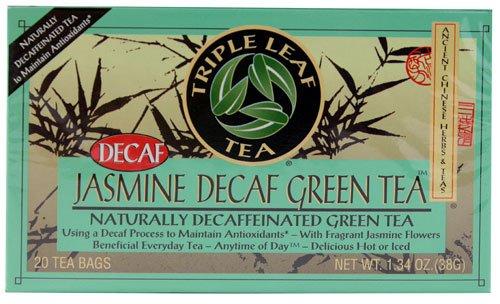 Triple Leaf Tea Jasmine Decaf Green Tea -- 20 Tea Bags