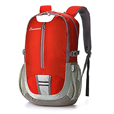 Mountaintop 40l Hiking Backpack Lightweight Water-resistant Backpacks for Outdoor Sports School Daypack Red